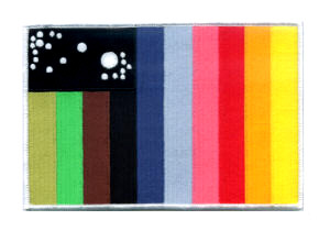Cosmos 1999 ecusson drapeau Irc des pilotes d\'aigles