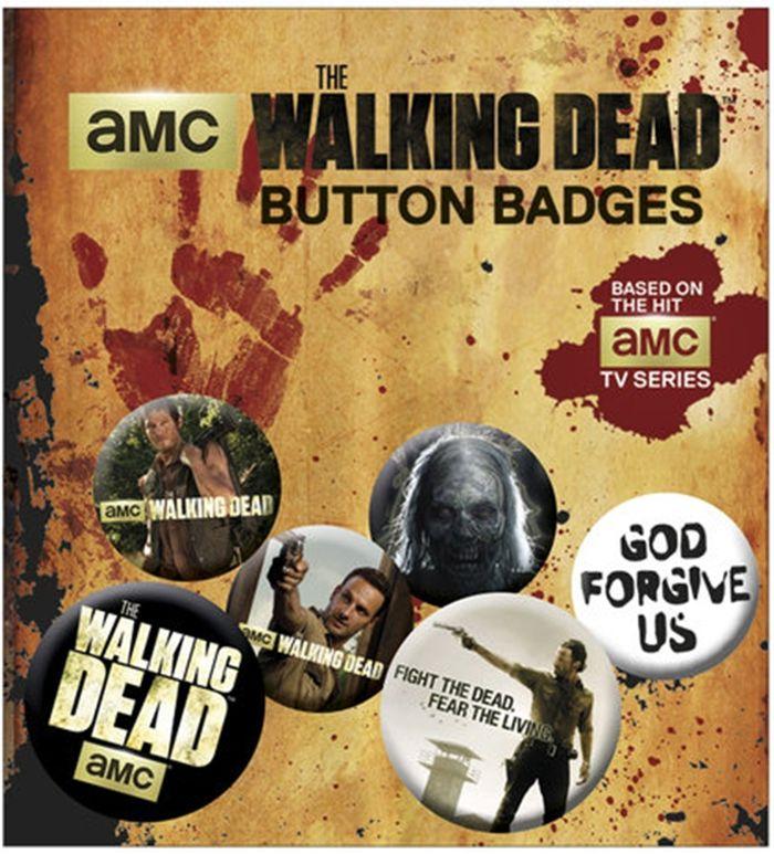 Blister 6 badges officiels The walking Dead