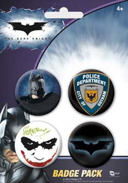 Blister 4 badges officiels Batman the Dark knight