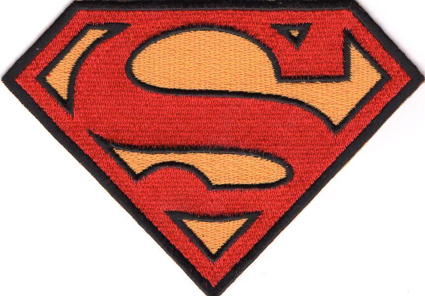 Ecusson brodé symbole Superman