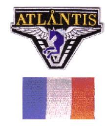 Lot de 2 ecussons Stargate Atlantis équipe France