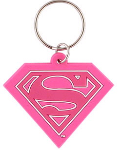 Porte cles logo Supergirl officiel