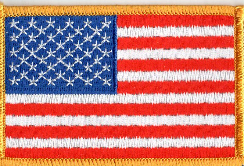 Ecusson drapeau USA