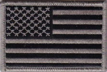 Ecusson drapeau USA  version gris & noir