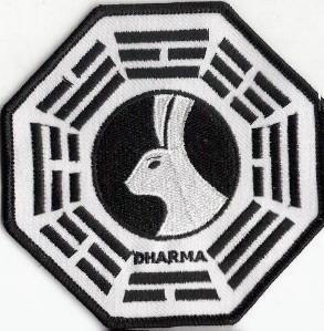 Ecusson Dharma Initiative station miroir vu dans Lost