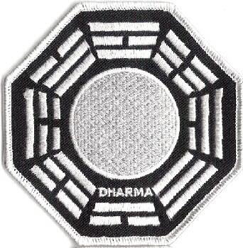 Ecusson Dharma Initiative station perle vu dans Lost