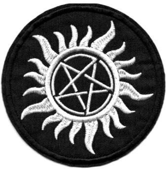 Supernatural ecusson pentagramme anti possession