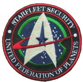 Ecusson Star trek Starfleet Security United federation of planets