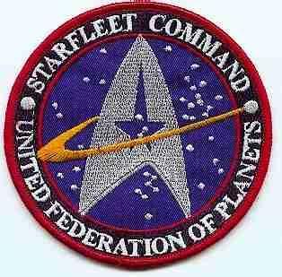 Ecusson Star trek Starfleet Command United federation of planets