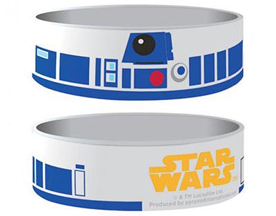 Bracelet Star Wars officiel D2R2 en silicone