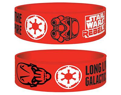 Bracelet Star Wars officiel forces de l\'empire en silicone