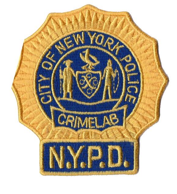 Ecusson de la police de New York Section police scientifique
