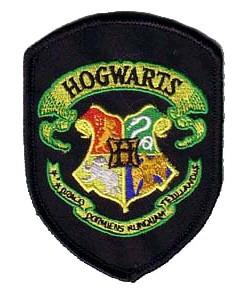 Ecusson brodé de l\'école de Poudlard  vu dans Harry Potter