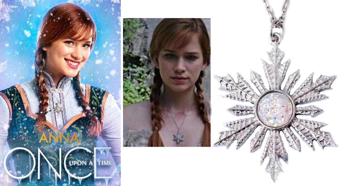 Réplique pendentif flocon d\'Anna dans Once upon a time
