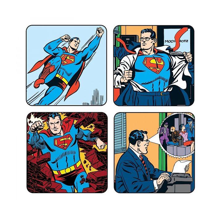 Superman Pack officiel 4 sous verres