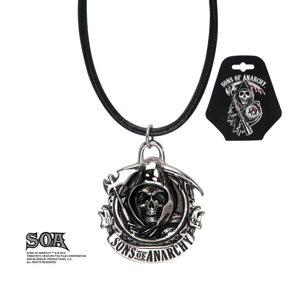 Pendentif officiel Sons of Anarchy logo SOA en acier inoxydable