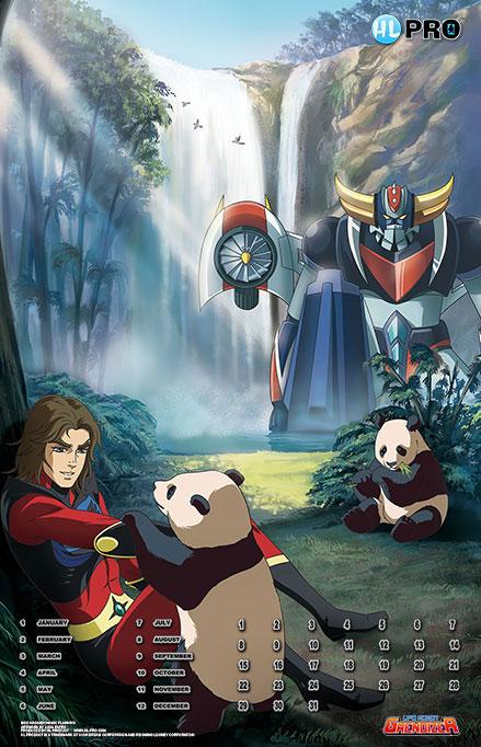 Calendrier Goldorak Protect the Earth modèle pandas