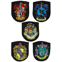 Lot de 5 écussons Harry Potter des maisons de Poudlard