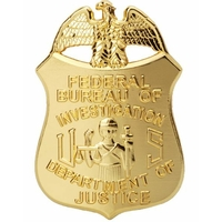 Badge FBI Réplique badge agent du FBI avec son porte badge en option