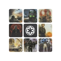 Star Wars Rogue One Pack officiel de 8 sous verres Star wars Rogue One en 3D