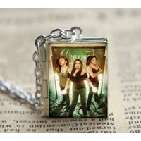 Collier Charmed pendentif médaillon des 3 soeurs Halliwell pendentif pouvoir des trois