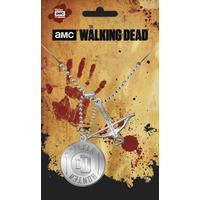 The Walking Dead pendentif dog tag arbalete walker the Walking dead pendant