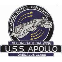 Ecusson USS Apollo Daedalus Class vu dans la série Stargate Atlantis