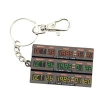 Porte clés officiel Retour vers le futur porte clés métal time control 7cm