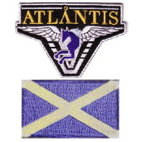 Lot de 2 écussons Stargate Atlantis équipe Ecosse