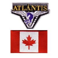 Lot de 2 ecussons stargate Atlantis équipe Canada