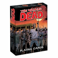 Jeu de cartes The Walking Dead Cartes à jouer the walking dead issues de la bd