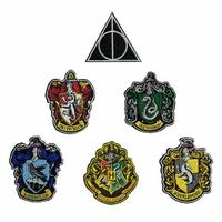 Lot 6 ecussons brodés Harry potter officiels Harry potter official patch pack