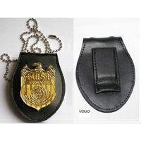 Réplique du badge du NCIS et porte badge