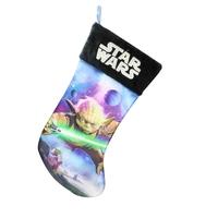 Chaussette de Noël Star wars modèle Yoda 45 cm Chaussette de noël Yoda