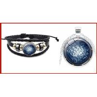 Stargate Atlantis Lot 1 bracelet et 1 pendentif porte des étoiles