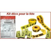 Pack Noël les experts kit décoration kit fêtes spécial scene de crime