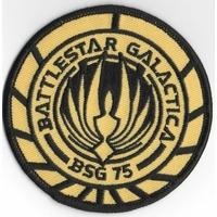 Ecusson Battlestar Galactica BSG 75 porté sur l'uniforme des pilotes de Viper