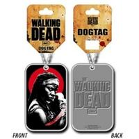 Collier the Walking Dead Officiel sous blister dog tag Michonne