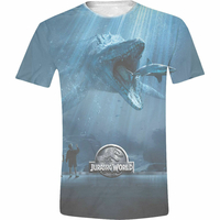 Tee Shirt Jurassic World Officiel t-shirt Jurassic World Mosasaurus Full printed