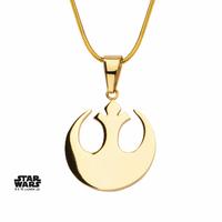 Pendentif Star Wars Symbole Alliance acier doré gold Rebel Alliance Pendant