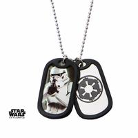 Pendentif dog tag Star wars Stormtrooper officiel sous blister Disney