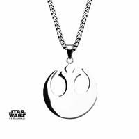 Pendentif Star Wars Symbole de l'Alliance Rebelle en acier Rebel Alliance Symbol Pendant