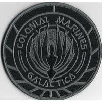 Ecusson Battlestar Galactica porté par les Marines du vaisseau