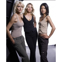 Photo officielle Battlestar Galactica de trois cylons 20x25cm