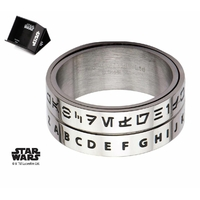 Bague Star Wars alphabet Aurebesh