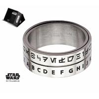 Bague Star Wars alphabet Aurebesh