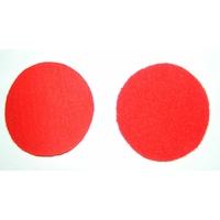 Velcros rouge male et femelle pour ecusson rond