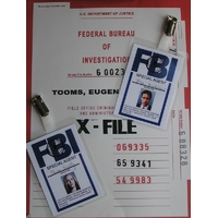 X-Files Badges agents du FBI Mulder et Scully