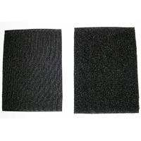 Velcros noirs male et femelle pour ecusson rectangle type paintball