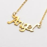 Collier Angel en acier inoxydable doré
